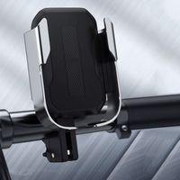 Uchwyty do telefonów, Baseus Armor Motorcycle Holder | Uchwyt do telefonu na rower motor skuter regulowany | czarny - Czarny