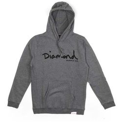bluza DIAMOND - Og Script Hoodie - Core Gunmetal Heather (GNHT) rozmiar: XL