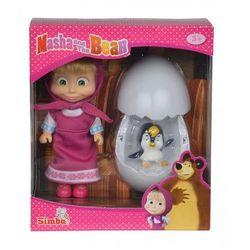 Lalka Masza z pingwinem Simba