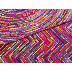 Dywan - kolorowy - poliester - bawełna - shaggy - 160x230 cm - KARASU