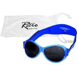 Okulary przeciwsłoneczne UV dzieci 0-2lat RETRO BANZ - Blue