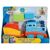 Pojazdy bajkowe dla dzieci, Tomek i Przyjaciele Mój Pierwszy Tomek z klockami