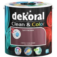 Farby, Satynowa farba lateksowa Dekoral Clean&Color ciepły chłodnik 2,5 l