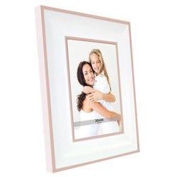 Ramka na zdjęcia A 30 x 40 cm biało-łososiowa