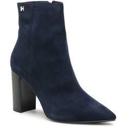 Botki TOMMY HILFIGER - Essential Suede High Heel Boot FW0FW05177 Desert Sky DW5