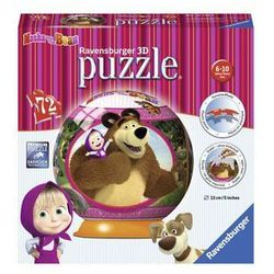 Puzzle 3D Masza i Niedźwiedź Kuliste 72 - Ravensburger