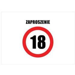 Zaproszenia personalizowane Znak Zakazu na urodziny - 8 szt.