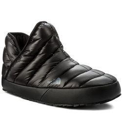 Kapcie THE NORTH FACE - Thermoball Traction Bootie T93MKHYXA Shiny Tnf Black/Dark Shadow Grey