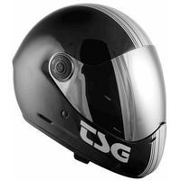 Ochraniacze na ciało, kask TSG - pass pro graphic design (+ bonus visor) silverstripe (100) rozmiar: M