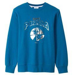 Bluza z nadrukiem bonprix niebieski oceaniczny z nadrukiem