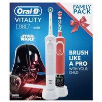 Szczoteczki do zębów, Szczoteczka rotacyjna ORAL-B D100 Cross Action + D100K Star Wars DARMOWY TRANSPORT