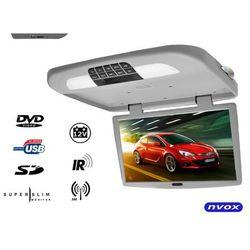 """NVOX RF1890D Grey Monitor podwieszany podsufitowy LCD 18"""" cali HD DVD USB SD IR FM"""