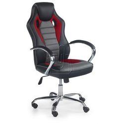 Fotel gabinetowy Scroll czarno-czerwono-popielaty