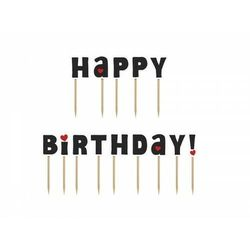 """Karteczki na piku Happy Birthday!, 9,2cm (1 karton / 50 op.) (1 op. / 14 szt.)"""