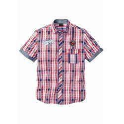 Koszula w kratę z krótkim rękawem bonprix czerwony w kratę
