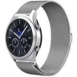 Bransoleta Milanese pasek stalowy do Samsung Gear S3 srebrny - Srebrny