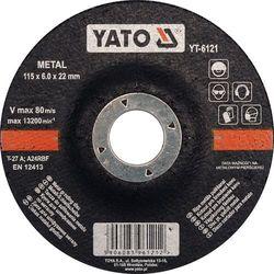 Tarcza do szlifowania metalu 115x6,0x22 mm Yato YT-6121 - ZYSKAJ RABAT 30 ZŁ