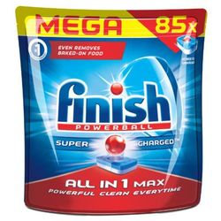 FINISH 85szt Powerball All in 1 Max Super charged Tabletki do zmywarki
