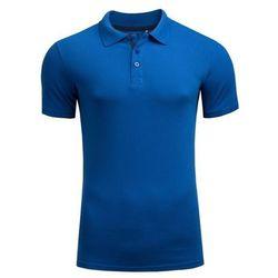 OUTHORN Koszulka męska polo TSM602 Kobalt - Niebieski