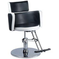 Fotel fryzjerski LUIGI BR-3927 czarno-biały