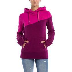 bluza BENCH - Her. Hoody Color Block Plum Caspia (PU11461) rozmiar: M