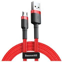 Baseus Cafule Cable wytrzymały nylonowy kabel przewód USB / micro USB QC3.0 1.5A 2M czerwony (CAMKLF-C09)