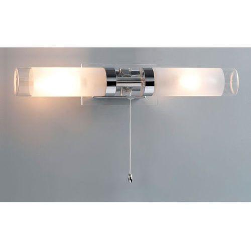 Kinkiety, Kinkiet LAMPA ścienna HOOK MB030101-2C Italux łazienkowa OPRAWA galeryjka nad lustro chrom biała