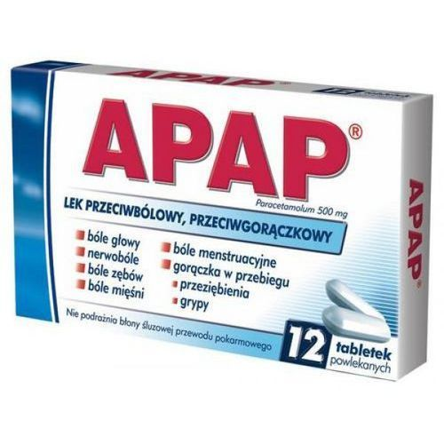 Tabletki przeciwbólowe, Apap 12 tabletek
