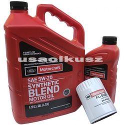 Oryginalny filtr oraz syntetyczny olej silnikowy Motorcraft 5W20 Ford F-150 3,7 V6
