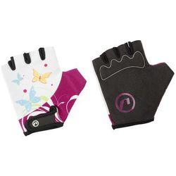 Rękawiczki dziecięce Accent Daisy biało-fioletowe L/XL