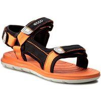 Sandały dziecięce, Sandały ECCO - Intrinsic Lite 70113250567 Black/Orange Neon