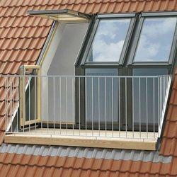 Balkon dachowy VELUX GEL 3365G MK08 78x136 element górny tytan cynk