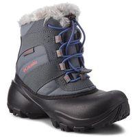 Kozaki dziecięce, Śniegowce COLUMBIA - Youth Rope Tow III Waterproof BY1323 Ti Grey Steel/Red Canyon 033