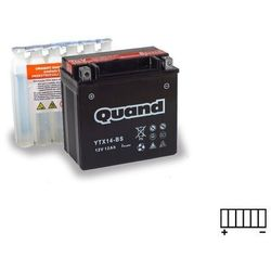 Akumulator motocyklowy QUAND YTX14-BS 12V 12Ah 180A L+