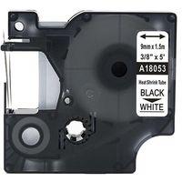 Rurki termokurczliwe, Rurka termokurczliwa DYMO Rhino 18053 9mm x 1.5m ø 1.7mm-3.7mm biała czarny nadruk S0718280 - zamiennik | OSZCZĘDZAJ DO 80% - Z