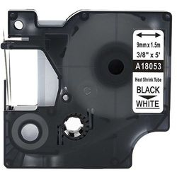 Rurka termokurczliwa DYMO Rhino 18053 9mm x 1.5m ø 1.7mm-3.7mm biała czarny nadruk S0718280 - zamiennik   OSZCZĘDZAJ DO 80% - Z