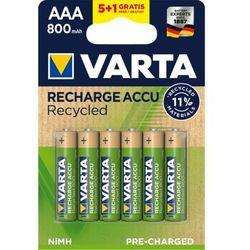 Varta akumulatory Recycled 5+1 AAA 800 mAh R2U 56813101476