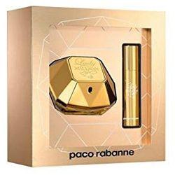 Paco Rabanne Lady Million, Zestaw podarunkowy, woda perfumowana 50ml + woda perfumowana 10ml (Travel set)