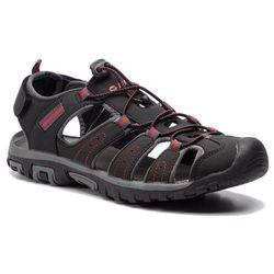 Sandały HI-TEC - Tiore AVS-SS19-HT-01-Q2 Black/Dark Grey/Red