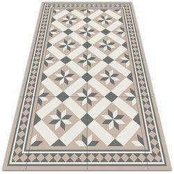 Nowoczesny dywan tarasowy Nowoczesny dywan tarasowy Ośmioramienne gwiazdy