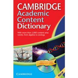 Cambridge Academic Content Dictionary +CD (opr. miękka)