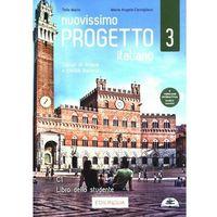 Książki do nauki języka, Nuovissimo progetto italiano 3 libro dello studente + cd - telis marin (opr. miękka)