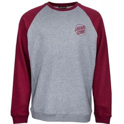 bluza SANTA CRUZ - Outline Crew Port/Dark Heather (PORT-DARK HEATHER) rozmiar: XL