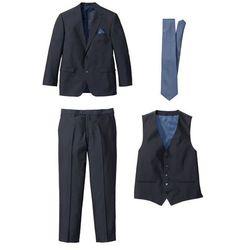 Garnitur 4-częściowy Regular Fit bonprix ciemnoniebiesko-niebieski