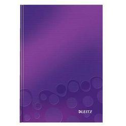 Brulion Leitz Wow A5 80 kratka twarda oprawa fioletowy 46281062