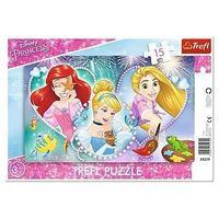 Puzzle, Puzzle 15 Ramkowe Disney Księżniczki Trzy uśmiechy