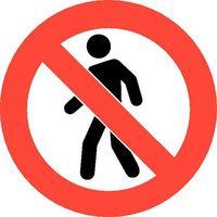 Oznakowanie informacyjne i ostrzegawcze, Piktogram z PCV,ruch pieszy niedozwolony, opak. 2 szt.