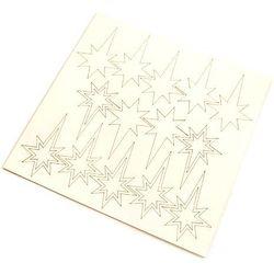 Zestaw ozdobnych gwiazd betlejemskich 13,8x13,8 cm