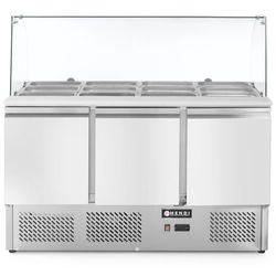Stół chłodniczy sałatkowy 3-drzwiowy z nadstawą szklaną HENDI 232798 232798