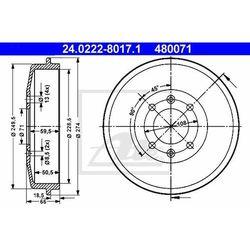 BĘBEN HAM ATE 24.0222-8017.1 CITROEN BERLINGO 1.6 08-, 1.6HDI 08-